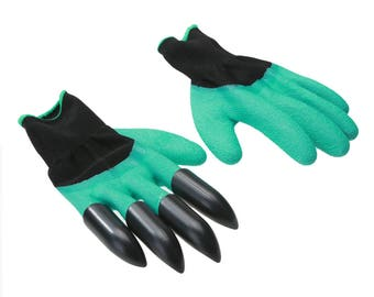 Garden Gloves - Built in 4 Claws for Easy Gardening