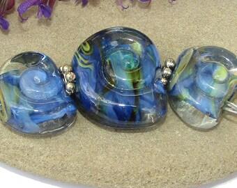 BHG  Deep blue nautilus trio