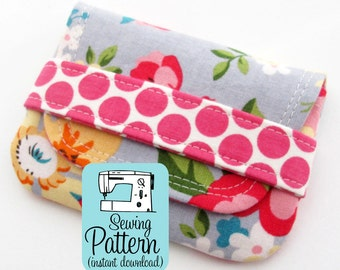 Card Wallets PDF Sewing Pattern | Sewing Pattern to Make Simple Pouches to Use for Business or Gift Cards or Mini Wallets