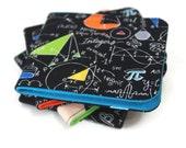 Mens Geeky Math Wallet / Slimfold Minimalist Billfold / Vegan