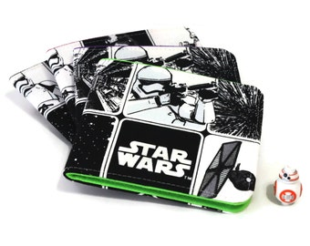 SALE Mens Star Wars Wallet / Minimalist Vegan Billfold