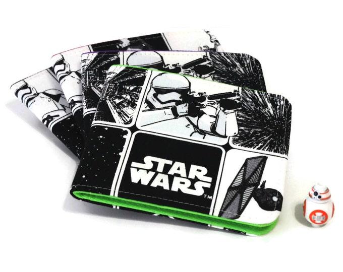 SALE Mens Star Wars Wallet / Minimalist Vegan Billfold