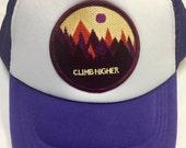 Girls Trucker Toddler/Kids Trucker Hat- Purple with Cli...