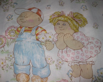 Vintage Twin Sheet Set, Cabbage Patch Kids Sheets, Performance Products, Polyester Cotton, 1983 Retro Bed Linens, Blast from the Past