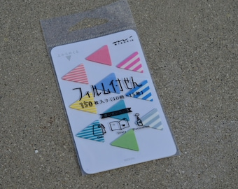 Midori Film Sticky Notes - Mini Rainbow Triangles - for Planners and Schedule