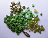 DESTASH - Gemstones - Pearls - Lucite Flowers - Czech Glass - chalk turquoise - Jewelry Supplies