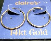 16mm 14kt Solid Gold Hoops pair 14k earrings