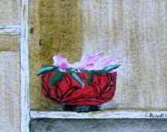 ORIGINAL PAINTING: Mini Still Life Flower Watercolor Painting