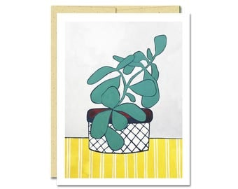 Jade on Gray Notecard // Single Card // Everyday Card // Cactus Card // Blank Notecard // Cute Card // NW Artist // Rachel Austin Card