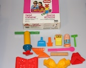 Play Doh Twist n Shaper Fuzzy Pumper Barber Beauty Shop lot Vintage 1970s - 1980s