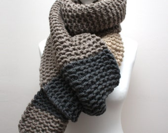 Luxurious Scarf, Chunky Scarf, Chunky Knit Scarf, luxury gifts for men, Winter Scarf, Knitted Scarf, Long Wool Scarf, Handmade Scarf, Scarf