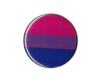"Bisexual Pride Flag Button Badge Pinback 1"", 1.25"" or 2.25"" bi queer"