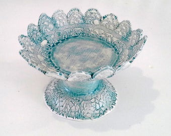 SECONDS Lace Footed Dish
