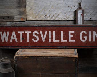 Custom Gin Sign, Wooden Gin Sign, Gin Distillery Sign, Gin Sign, Wood Gin Sign, Gin Wooden Sign - Rustic Hand Made Wooden Sign ENS1000892