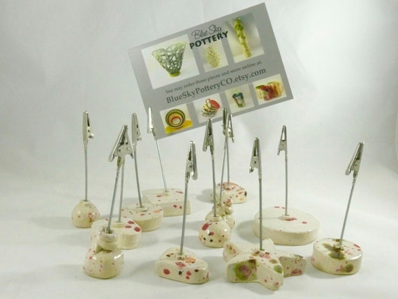 Place Card Holders, Picture Clips, Photo Holders, Memo Note Holders, Placecard holders Weighted Paper Clips Mother's Day Gift, Sign Holders,