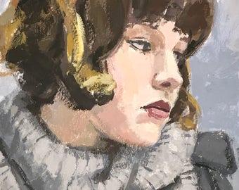 Grey - original casein painting