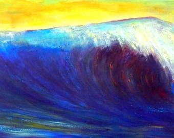"143"" HUGE Wave!  Seascape Art Painting Wave Original Artwork by BenWill"