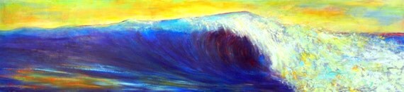 "143"" HUGE Wave!  Seascape Art Painting Wave Original Artwork by BenWill"