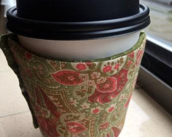 Coffee Cozy Reusable Sleeve - English Rose