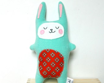 Bunny Rabbit Plush,  Stuffie Bunny, Rabbit Softie, Rabbit Doll, Stuffed Animal - Baby Gift