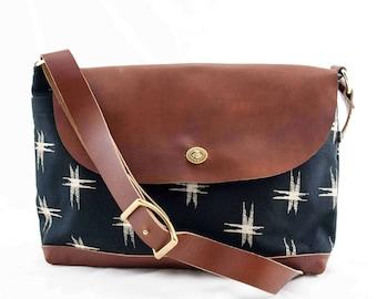 Free Shipping! Messenger Bag-Kasuri print