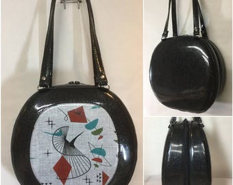 Retro Swirl Atomic Handbag - Shoulder Bag - Case