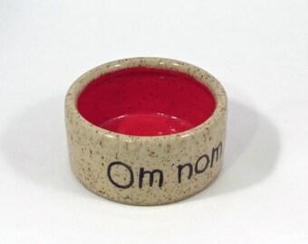 small om nom nom bowl in red