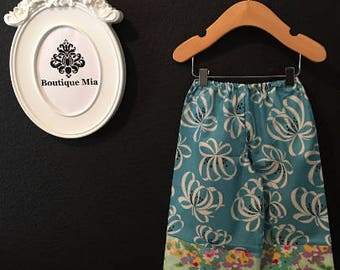 Sample SALE - Will fit Size 12-24 month - Ready to MAIL - Samurai PANTS -  Blues - by Boutique Mia