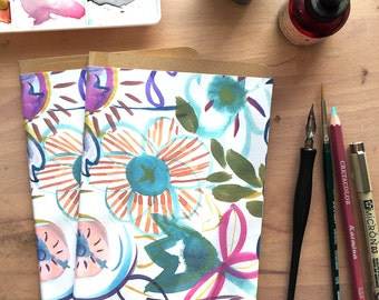 Unlined Sketch Journal from my watercolor and ink illustration.
