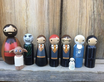 Harry Potter peg dolls, PegBuddies, Harry Potter toy, Harry Potter birthday,