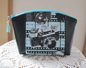 Retro Camera Medium Clutch Cosmetic Bag  Purse  Wedding Bridesmaid Gift Essential Oils Case Toiletry Kit Travel Case