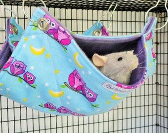 Rat Hammock,Double Decker,Rat Accessory,Pet Accessory,Pet Hammock,Pet Cage Bedding,Rat Bedding,Small Animal Hammock,Rat Bed,Hammock,Bunk Bed