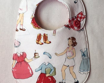 Vintage Paper Dolls Infant Bib