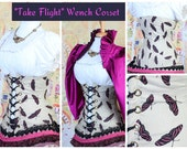 Waist 33 to 35 Take Flight-Butterfly Wench Corset
