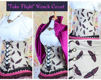 Waist 23 to 25 Take Flight-Butterfly Wench Corset