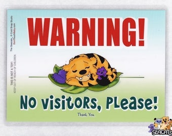 Do Not Disturb, Sleeping Baby, NO VISITORS Sign, The Seacats Signs for Baby, Toddler, and Big Kids of All Ages