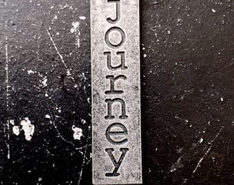 Journey Metal Charm / Imagine Tagword / Industrial Jewelry / Jewelry Findings