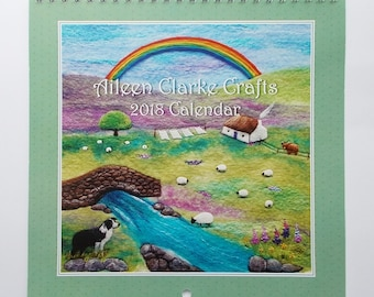 2018 Wall Calendar Printed Scottish Felt Art
