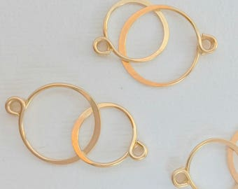 Small Handcrafted 14k gold fill Infinity Component.  Findings. Infinity findings. Necklace Findings. Gold fill findings.