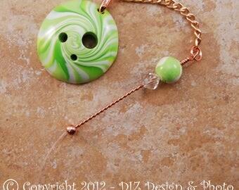 Lime Swirl Spinner's DIZ and Threader Set - No 1 - CONCAVE