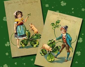 Vintage St Patricks Day Collage Sheet 2