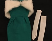 Vintage Barbie strapless gown shawl gloves nylons hat sun glasses & beauty items Mattel FREE shipping