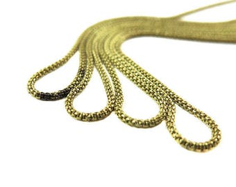 Vintage Brass Mesh Snake Chain Necklaces (4X) (18 Inches) (C669)