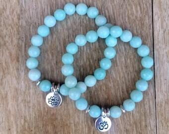 New - Luxe Amazonite  Bracelet and Charm