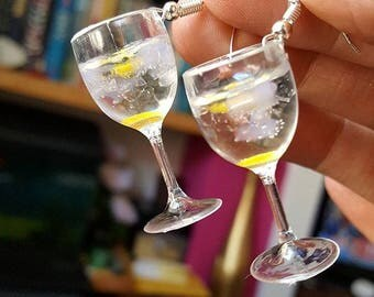 Gin & Tonic Glasses Earrings