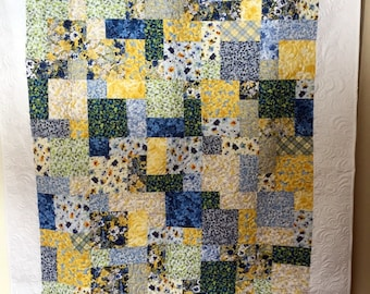 "Walking on Sunshine Quilt 56"" x 75"" Ready to Ship"