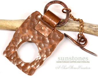 Handmade Rustic Copper Toggle Clasp TC589
