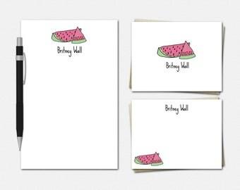 Watermelon Stationery - Personalized Watermelon Stationery - Watermelon Stationary - Personalised Stationery - Watermelon Gifts