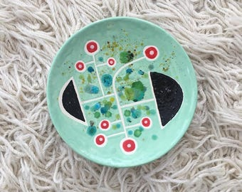 Modernist plate wall art - Mint Green