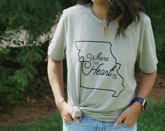 Kansas City Where the Heart is T-Shirt